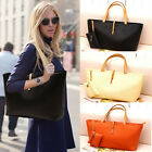 FASHION WOMEN's CLASSIC LADIES PU LEATHER TOTE SHOULDER BAG HANDBAG WITH PURSE