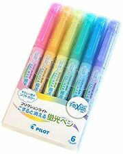 Pilot FriXion Light Soft Color Erasable Highlighter Pen - 6 Color Set from Japan
