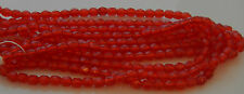 1200 PCS WHOLESALE 4mm CZECH GLASS FIRE POLISHED FACETED BEADS - SIAM RUBY