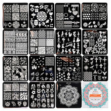 15Pcs/set BORN PRETTY Nail Art Stamp Plates Square Image Templates BPX01-X15