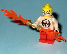 SUPER HERO Lego Iron Fist UNLEASHED-Shirtless Red Custom Genuine Lego  #16R