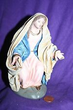 """Vintage nativity figure Mary  Made in Spain  6"""" tall Maestros"""