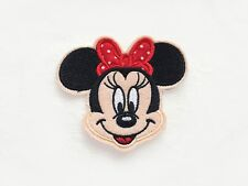1x MINNIE patch custom Iron On Embroidered Applique cartoon black fun kid Mickey