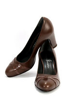 Gibellieri 3245 Taupe Leather Pumps 40 / US 10