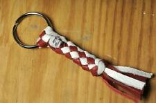 Hells Angels Tucson AZ USA-Braided Leather Red & White Skull Key Ring
