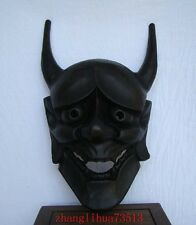Antique Handmade Carving & colored drawing wood Mask God Art Deco 13""