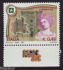 ITALIA 2005 - REGIONE LOMBARDIA - € 0,45 - CON APPENDICE MNH (1)