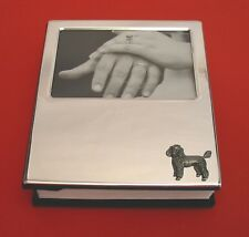 Poodle Motif Silver Plated 100 4 x 6 Photo Album Pet Vet Mum Dad Poodle Gift