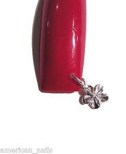Piercing Bijou d'Ongle Argent .925 VERITABLE Fleur Nail Art