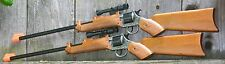 PAIR OF TWO (2) Cap Gun Rifle w Scope Fires 12-Shot Ring Caps Made in Italy20500