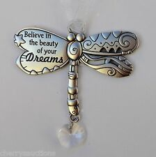 s Believe in beauty of your dreams DRAGONFLY BLESSINGS ORNAMENT dream car charm