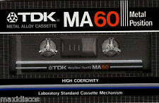 CASSETTE AUDIO TDK MA 60 METAL ALLOY TAPE *VINTAGE* MADE IN JAPAN, MINT, SEALED