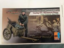 "Dragon  1/6 Scale 12"" WWII German Gerhard Wieczorek Heer Grenadier w/ Cart 70481"