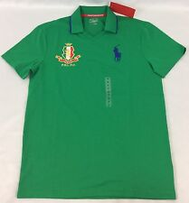 Ralph Lauren Men's Polo Sport Shirt Italia Italy NWOT Stem Green Size M