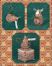 JUST NAN GINGERBREAD ANGEL MOUSE CROSS STITCH CHART AND EMBELLISHMENTS LIM. ED.