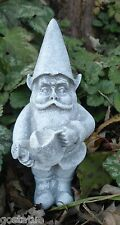Latex gnome with pail mold plaster cement casting garden mould