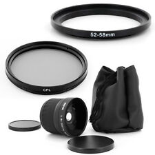 52mm Fish Eye 0.18x lens, CPL Filter for Nikon D3100 D5100 D7000 Nikkor50mm,NEW