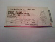 Ticket SERBIA - ITALY 2011 Qualifications Euro 2012 Poland Ukraine Србија Italia
