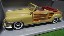 CHRYSLER TOWN COUNTRY Cabriolet 1948 jaune 1/18 MOTOR CITY CLASSICS 5003 voiture