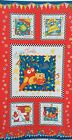 "Henry Glass Fabric Rhyme Time 24"" Panel ~ children nursery owl spider bus kids"