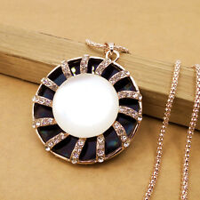 AA448 Gold-plated Mosaic crystal sunlight chain Fashion charm long necklace