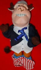 "MEANIE President Bill ""BULL CLINTON"" Spoof of Bean Bag Toys Plush NEW with TAG!"