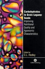 Carbohydrates in Grain Legume Seeds: Improving Nutritional Quality and Agronomic