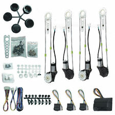 Car Truck Electric Power Window 4 Door Kit Roll Up Switches Conversion Universal
