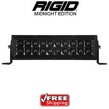 "RIGID Industries 110212BLK Midnight Edition 10"" LED Light Bar E-Series Spot Proj"