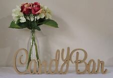 Candy Bar MDF 10cm Wooden Letters freestanding sign gift wedding decor, birthday