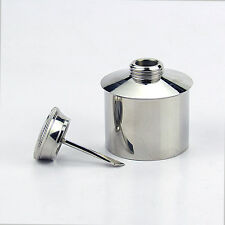 Tourbon Stainless Steel Oil Bottle Gun Rifle Needle Maintenance Round Flask Hunt
