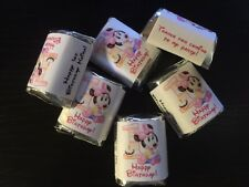 60 Personalized Birthday Candy Wrappers Nugget favors  labels Baby Minnie Mouse