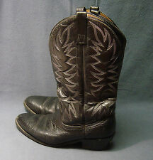 MEN'S PALOMINO BLACK LEATHER COW BOY BOOTS SIZE 9D
