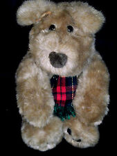 Charter Club Plush Holiday Puppy Dog Paw Pads Plaid Scarf Cute Expression