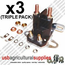 3x STARTER Universale Solenoide-SIMPLICITY SNAPPER MTD TORO Hayter CONSEGNA VELOCE