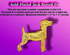 Gold Plated Dog Pin Jack RussellTerrier