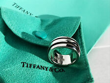 Tiffany & Co Sterling Silver Atlas Groove Ring Size K  or 5.325