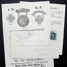 US ADV Cover Tolley New York CR Stamp to Stanford Lodge Letter USA Brief (L-2774