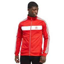 NWT  adidas  Originals Men's  LARGE  NATIONAL TRACK TOP JACKET  Scarlet / White