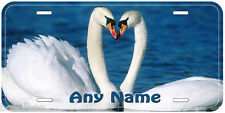 Swan Pair Aluminum Any Name Personalized Car Auto Novelty License Plate