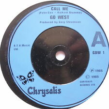 "GO WEST - Call Me - Excellent Condition 7"" Single Chrysalis GOW 1"