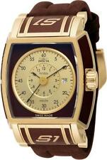 Invicta 12598 Gold-tone/Brown S1 Touring Edition Swiss Made Strap Mens Watch