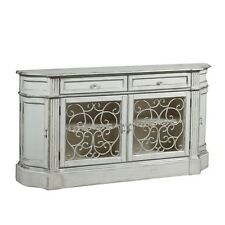 Pulaski 806033 Aged Ivory Credenza with Iron Doors NEW