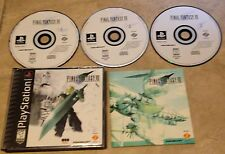 Final Fantasy VII 7 Complete in case w/ manual 3 dis BLACK LABEL Playstation PS1