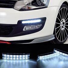 2x White12V  8LED Super Bright DRL Daytime Running Driving Lights Fog Lamp