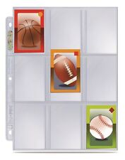 (10) Ultra Pro 9 Pocket Mini Trading Card Album Pages Fits Topps and Bowman Mini