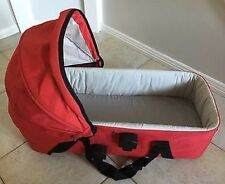 Mountain Buggy Urban red carry cot bassinet for pram