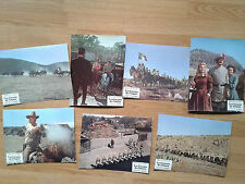 JOHN WAYNE The Undefeated 1969  vintage French lobby card set #2  ROCK HUDSON