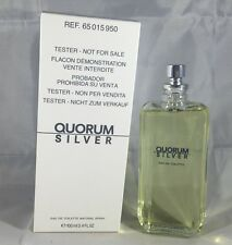 Quorum Silver By Antonio Puig 3.4 Oz EDT Spray Brand New Tester Cologne For Men