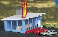 Bachmann Plasticville N scale  Building - Drive-In Hamburger Stand 45709 NEW
